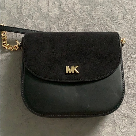 e5c2afd40a96 MICHAEL Michael Kors Bags | Mott Leather Suede Saddle Bag | Poshmark